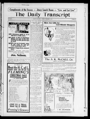 Primary view of object titled 'The Daily Transcript  (Norman, Okla.), Vol. 4, No. 146, Ed. 1 Tuesday, December 19, 1916'.