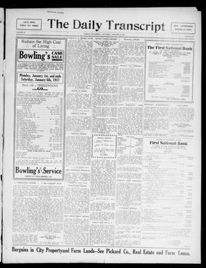 Primary view of object titled 'The Daily Transcript  (Norman, Okla.), Vol. 4, No. 158, Ed. 1 Saturday, January 6, 1917'.