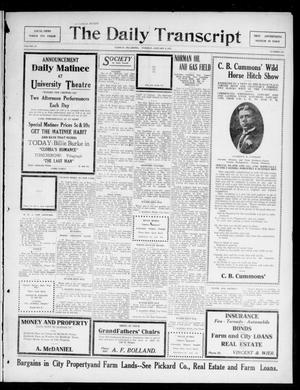 The Daily Transcript  (Norman, Okla.), Vol. 4, No. 160, Ed. 1 Tuesday, January 9, 1917