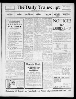 Primary view of object titled 'The Daily Transcript  (Norman, Okla.), Vol. 4, No. 169, Ed. 1 Monday, January 22, 1917'.