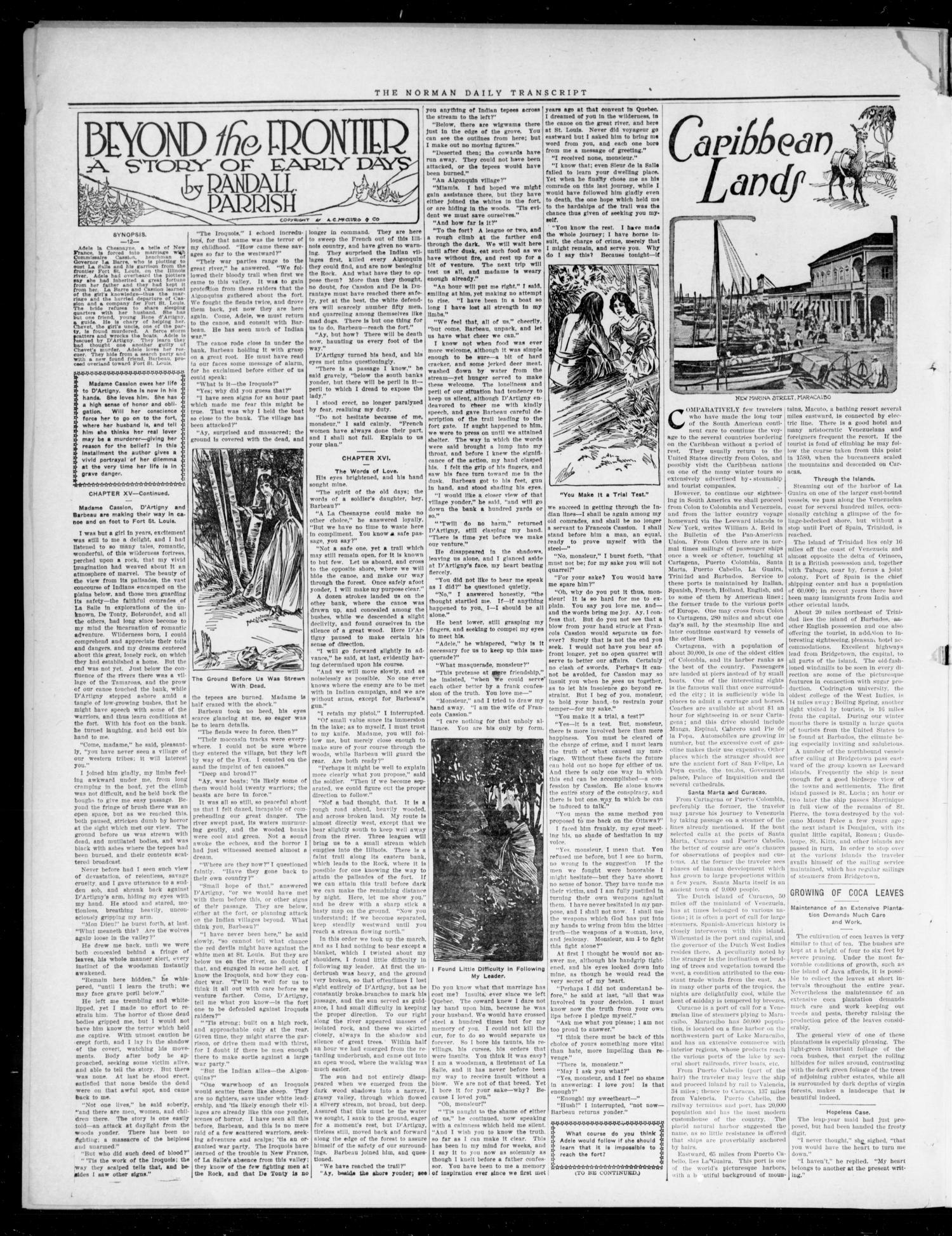 The Daily Transcript  (Norman, Okla.), Vol. 4, No. 183, Ed. 1 Saturday, February 10, 1917                                                                                                      [Sequence #]: 2 of 4