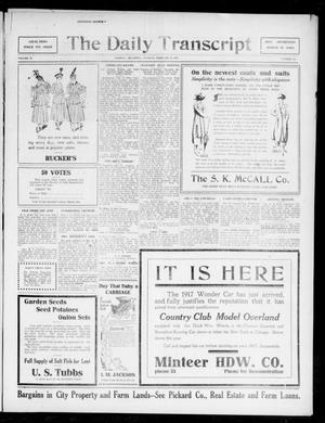 Primary view of The Daily Transcript  (Norman, Okla.), Vol. 4, No. 194, Ed. 1 Tuesday, February 27, 1917