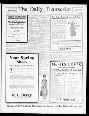 Primary view of object titled 'The Daily Transcript  (Norman, Okla.), Vol. 4, No. 212, Ed. 1 Friday, March 23, 1917'.