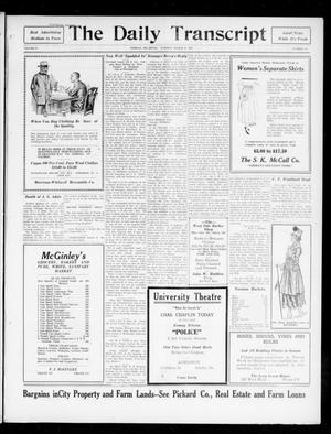 The Daily Transcript  (Norman, Okla.), Vol. 4, No. 215, Ed. 1 Tuesday, March 27, 1917