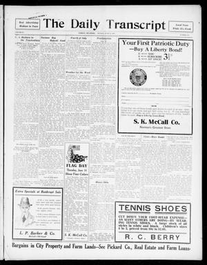 Primary view of object titled 'The Daily Transcript  (Norman, Okla.), Vol. 4, No. 268, Ed. 1 Monday, June 11, 1917'.