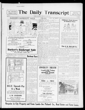 Primary view of object titled 'The Daily Transcript  (Norman, Okla.), Vol. 5, No. 15, Ed. 1 Wednesday, June 20, 1917'.