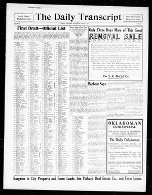 The Daily Transcript  (Norman, Okla.), Vol. 5, No. 62, Ed. 1 Wednesday, August 1, 1917