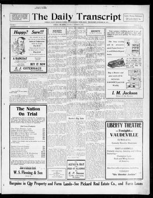 Primary view of object titled 'The Daily Transcript  (Norman, Okla.), Vol. 5, No. 122, Ed. 1 Saturday, October 27, 1917'.