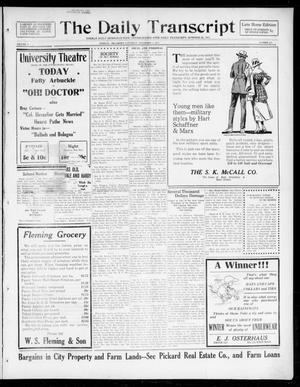 Primary view of The Daily Transcript  (Norman, Okla.), Vol. 5, No. 127, Ed. 1 Saturday, November 3, 1917
