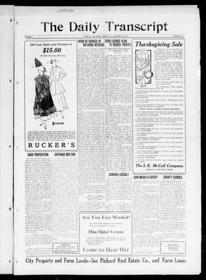 Primary view of The Daily Transcript  (Norman, Okla.), Vol. 5, No. 137, Ed. 1 Thursday, November 15, 1917