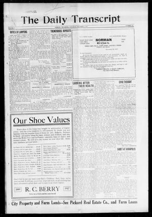 Primary view of object titled 'The Daily Transcript  (Norman, Okla.), Vol. 5, No. 150, Ed. 1 Saturday, December 1, 1917'.