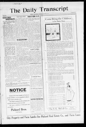Primary view of The Daily Transcript  (Norman, Okla.), Vol. 5, No. 152, Ed. 1 Tuesday, December 4, 1917