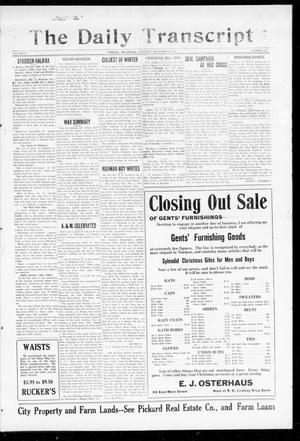 Primary view of The Daily Transcript  (Norman, Okla.), Vol. 5, No. 156, Ed. 1 Saturday, December 8, 1917