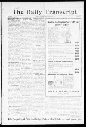 Primary view of object titled 'The Daily Transcript  (Norman, Okla.), Vol. 5, No. 158, Ed. 1 Tuesday, December 11, 1917'.