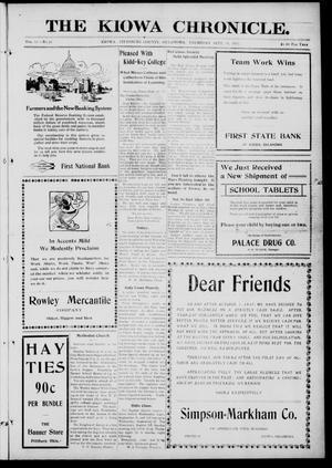 Primary view of The Kiowa Chronicle. (Kiowa, Okla.), Vol. 12, No. 16, Ed. 1 Thursday, September 20, 1917