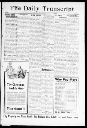 The Daily Transcript  (Norman, Okla.), Vol. 5, No. 170, Ed. 1 Wednesday, December 26, 1917