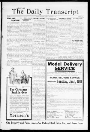 The Daily Transcript  (Norman, Okla.), Vol. 5, No. 172, Ed. 1 Friday, December 28, 1917