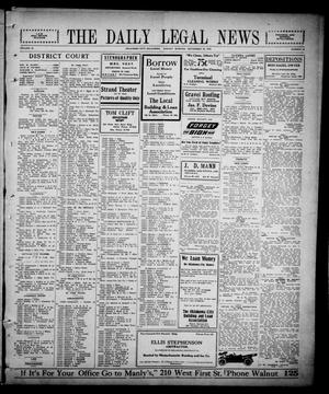 Primary view of object titled 'The Daily Legal News (Oklahoma City, Okla.), Vol. 13, No. 20, Ed. 1 Monday, September 25, 1916'.