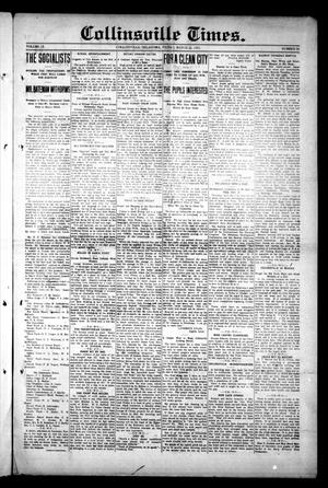 Primary view of object titled 'Collinsville Times. (Collinsville, Okla.), Vol. 9, No. 50, Ed. 1 Friday, March 21, 1913'.