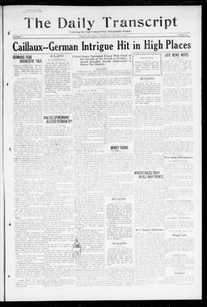 Primary view of object titled 'The Daily Transcript  (Norman, Okla.), Vol. 5, No. 188, Ed. 1 Wednesday, January 16, 1918'.