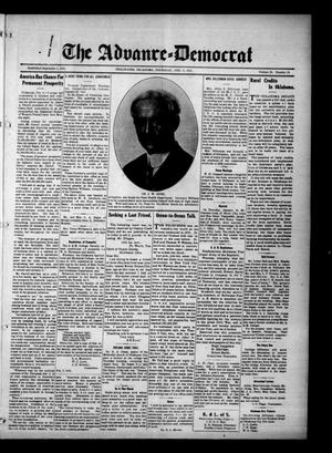 Primary view of object titled 'The Advance--Democrat (Stillwater, Okla.), Vol. 23, No. 24, Ed. 1 Thursday, February 11, 1915'.