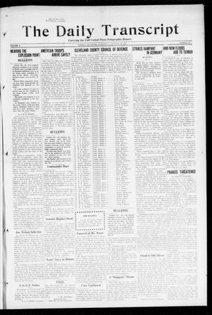 The Daily Transcript  (Norman, Okla.), Vol. 5, No. 200, Ed. 1 Wednesday, January 30, 1918