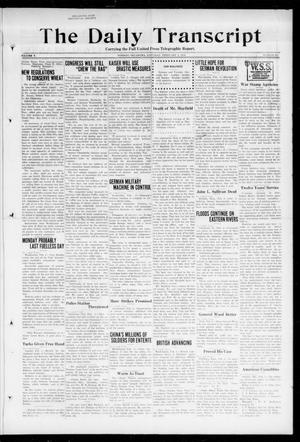 Primary view of object titled 'The Daily Transcript  (Norman, Okla.), Vol. 5, No. 203, Ed. 1 Saturday, February 2, 1918'.