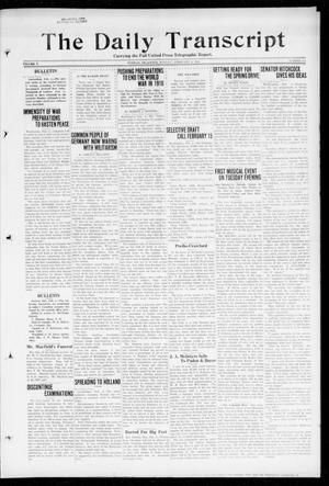 Primary view of object titled 'The Daily Transcript  (Norman, Okla.), Vol. 5, No. 204, Ed. 1 Monday, February 4, 1918'.