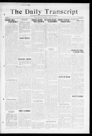 Primary view of object titled 'The Daily Transcript  (Norman, Okla.), Vol. 5, No. 206, Ed. 1 Wednesday, February 6, 1918'.