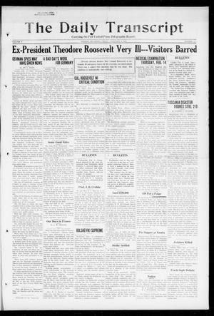 Primary view of object titled 'The Daily Transcript  (Norman, Okla.), Vol. 5, No. 208, Ed. 1 Friday, February 8, 1918'.