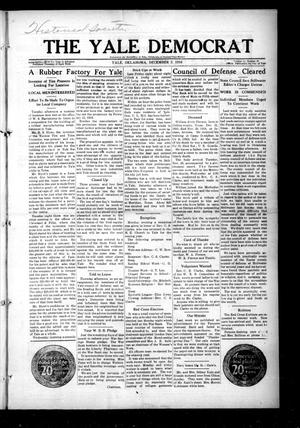 Primary view of The Yale Democrat (Yale, Okla.), Vol. 11, No. 16, Ed. 1 Thursday, December 5, 1918