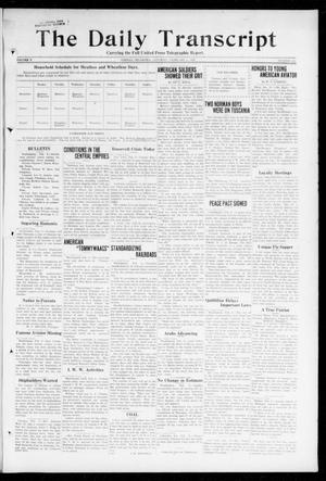 Primary view of object titled 'The Daily Transcript  (Norman, Okla.), Vol. 5, No. 209, Ed. 1 Saturday, February 9, 1918'.
