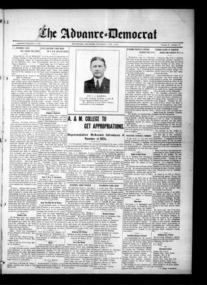 Primary view of object titled 'The Advance--Democrat (Stillwater, Okla.), Vol. 23, No. 23, Ed. 1 Thursday, February 4, 1915'.
