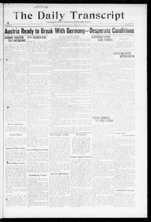 Primary view of object titled 'The Daily Transcript  (Norman, Okla.), Vol. 5, No. 214, Ed. 1 Friday, February 15, 1918'.