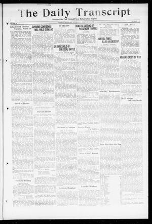 Primary view of object titled 'The Daily Transcript  (Norman, Okla.), Vol. 5, No. 218, Ed. 1 Wednesday, February 20, 1918'.