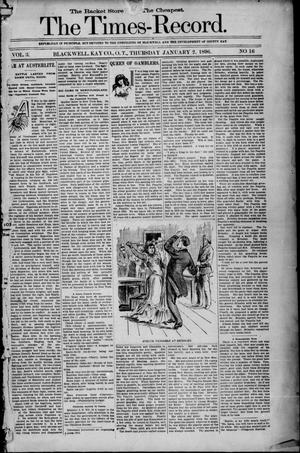 Primary view of object titled 'The Times-Record. (Blackwell, Okla. Terr.), Vol. 3, No. 16, Ed. 1 Thursday, January 2, 1896'.