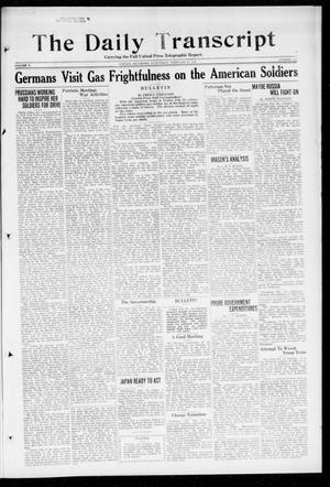 Primary view of object titled 'The Daily Transcript  (Norman, Okla.), Vol. 5, No. 224, Ed. 1 Wednesday, February 27, 1918'.
