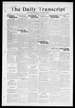 Primary view of object titled 'The Daily Transcript  (Norman, Okla.), Vol. 6, No. 1, Ed. 1 Friday, March 1, 1918'.