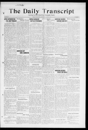 Primary view of object titled 'The Daily Transcript  (Norman, Okla.), Vol. 6, No. 2, Ed. 1 Saturday, March 2, 1918'.
