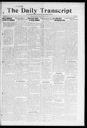 Primary view of object titled 'The Daily Transcript  (Norman, Okla.), Vol. 6, No. 3, Ed. 1 Monday, March 4, 1918'.