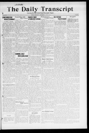 Primary view of object titled 'The Daily Transcript  (Norman, Okla.), Vol. 6, No. 5, Ed. 1 Wednesday, March 6, 1918'.
