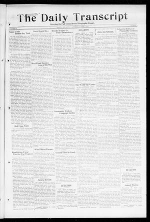 Primary view of object titled 'The Daily Transcript  (Norman, Okla.), Vol. 6, No. 8, Ed. 1 Saturday, March 9, 1918'.