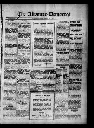 Primary view of object titled 'The Advance--Democrat (Stillwater, Okla.), Vol. 23, No. 5, Ed. 1 Thursday, October 1, 1914'.