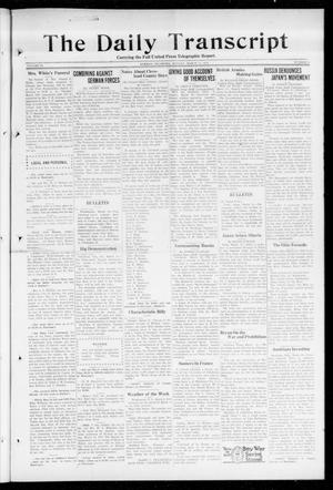 Primary view of object titled 'The Daily Transcript  (Norman, Okla.), Vol. 6, No. 9, Ed. 1 Monday, March 11, 1918'.