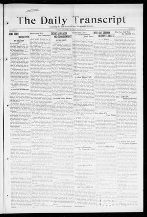 Primary view of object titled 'The Daily Transcript  (Norman, Okla.), Vol. 6, No. 10, Ed. 1 Tuesday, March 12, 1918'.