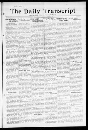 Primary view of object titled 'The Daily Transcript  (Norman, Okla.), Vol. 6, No. 11, Ed. 1 Wednesday, March 13, 1918'.