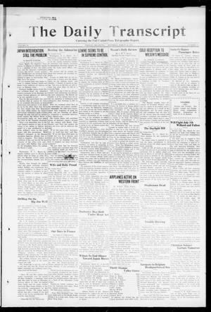 Primary view of object titled 'The Daily Transcript  (Norman, Okla.), Vol. 6, No. 14, Ed. 1 Saturday, March 16, 1918'.