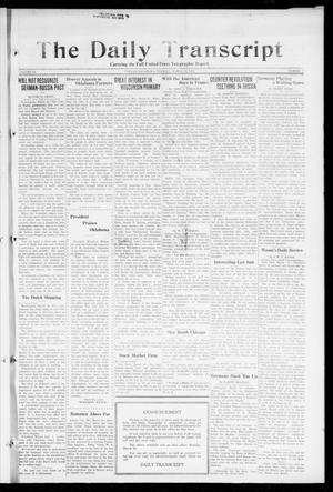 Primary view of The Daily Transcript  (Norman, Okla.), Vol. 6, No. 16, Ed. 1 Tuesday, March 19, 1918