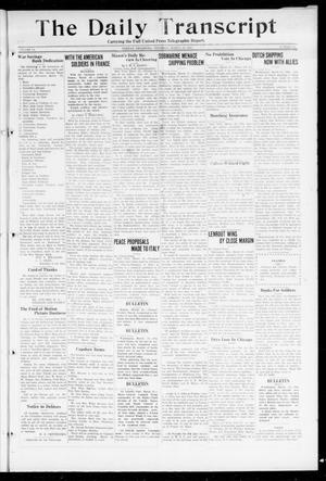 Primary view of object titled 'The Daily Transcript  (Norman, Okla.), Vol. 6, No. 18, Ed. 1 Thursday, March 21, 1918'.
