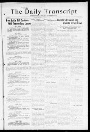 Primary view of object titled 'The Daily Transcript  (Norman, Okla.), Vol. 6, No. 20, Ed. 1 Saturday, March 23, 1918'.